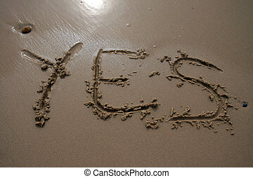 Sand writing - Yes
