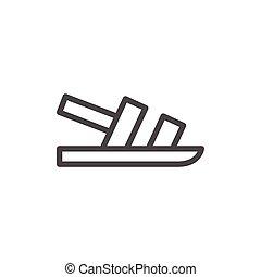 Sandal line icon