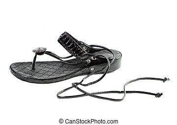 sandalen, touwtje