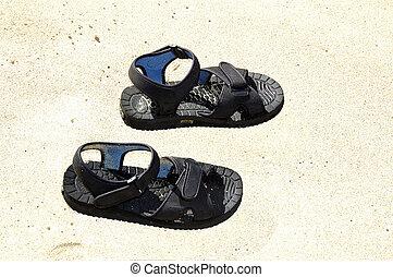 sandales, plage