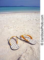 sandali, spiaggia