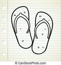 sandalo, flop vibrazione