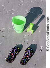 Sandals and Bucket