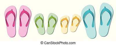 Sandals Family Beach Holiday Thongs
