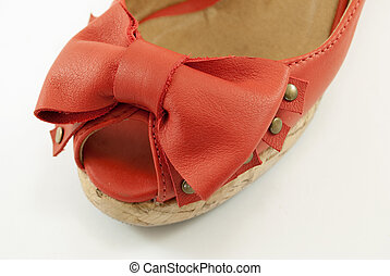 sandals with bow tip