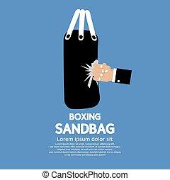 Sandbag. - Sandbag Vector Illustration.