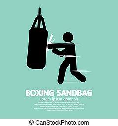 Sandbag For Boxer Graphic Symbol.