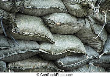 Sandbags.