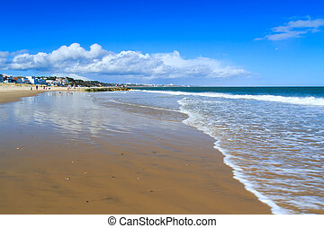 Sandbanks Dorset - Sunny day on Sandbanks Beach Dorset...