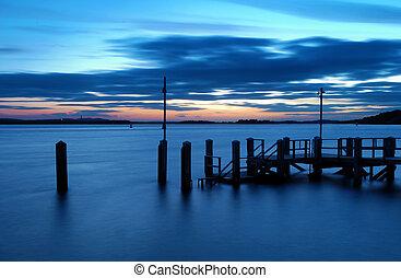 Sandbanks Sunset - Sunset over the islands of Poole Harbour...