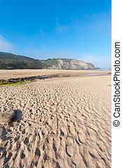 Sandbar - Rocky Coast of Atlantic Ocean in Portugal