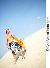 sandboarder, chłodny