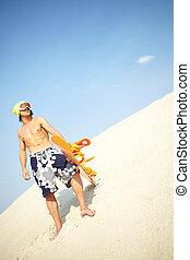 sandboarder, kühl