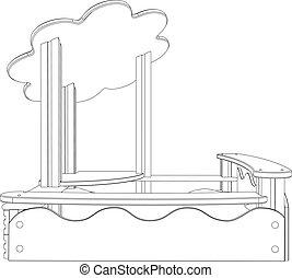 sandbox, illustration, 3d