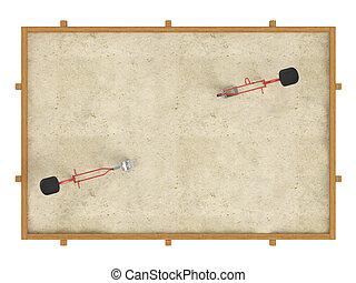 Sandbox isolated on white background