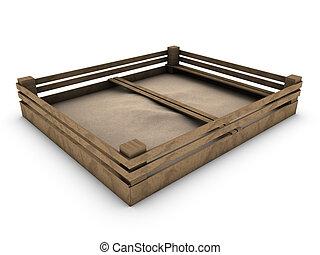 sandbox isolated on white