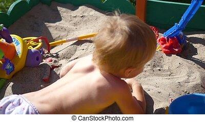 sandbox, jeux, enfant