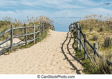 Sandbridge Uphill Beach Pathway - Uphill beach pathway at ...