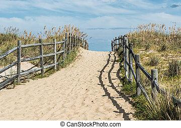 Sandbridge Uphill Beach Pathway - Uphill beach pathway at ...