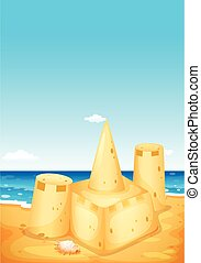 sandcastle, 浜 場面