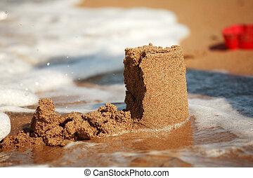 Sandcastle - concept of making save building