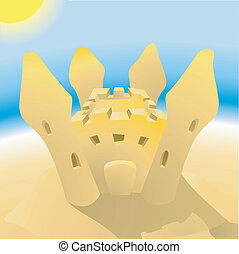 sandcastle, illustration