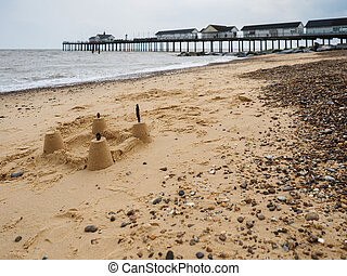 Sandcastle on the Beach at Southwold
