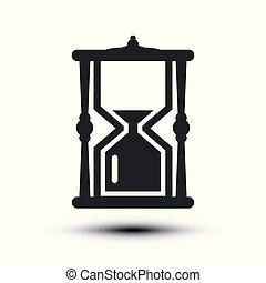 Sandclock Icon. Vector Hourglass Symbol.