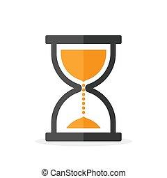 sandglass, icon., 砂時計, シンボル。, 時計
