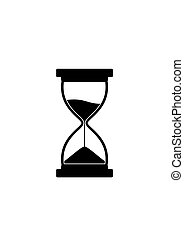 Sandglass icon isolated on white background. Time hourglass. Sandclock vector illustartion.