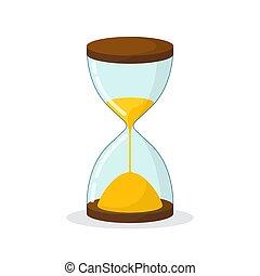 sandglass, icon., reloj de arena, símbolo., reloj