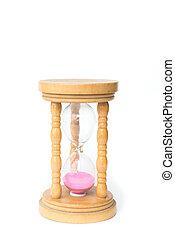 sandglass on white background