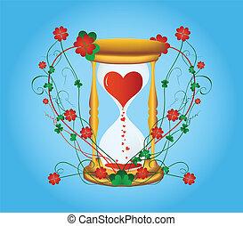 sandglass, zu, tag valentines
