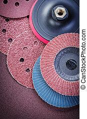 Sanding wheels holder on polishing sheet abrasive tools