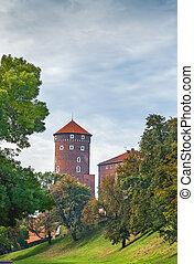 Sandomierz Tower, Krakow, Poland