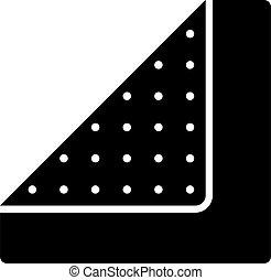 sandpaper flat draw icon