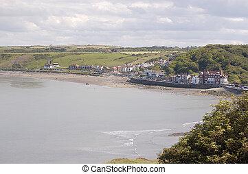 Sandsend Bay - Sandsend bay near Whitby in Yorkshire a...