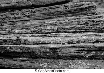sandstein, weißes, gestapelt, schwarz