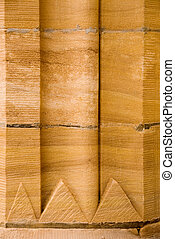 Sandstone Background - Sandstone blocks in a wall of the ...