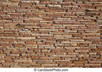decorative sandstone wall - building exterior