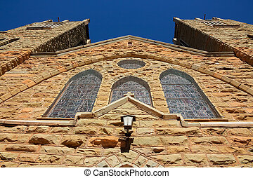 Sandstone church building - View of an old sandstone church ...