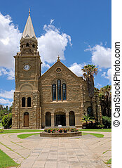 Sandstone church, Clarens, South Africa - Sandstone Ducth...