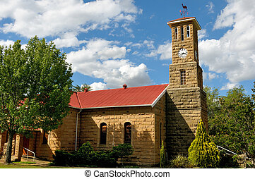 Sandstone church, Clarens, South Africa - Sandstone Dutch...