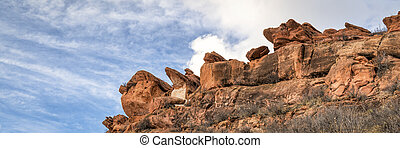 sandstone cliff in Lory State Park, - sandstone cliff ...