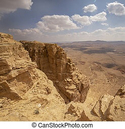 Sandstone Cliffs at the Ramon Crater