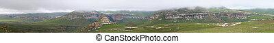 Sandstone cliffs in the Golden Gate Highlands National Park