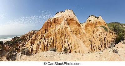 Sandstone cliffs