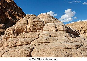 Sandstone mountain in the desert