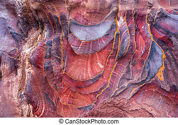Sandstone pattern, geological texture in Petra