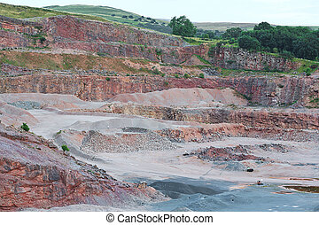 sandstone quarry - Sandstone quarry excavation area a deep...